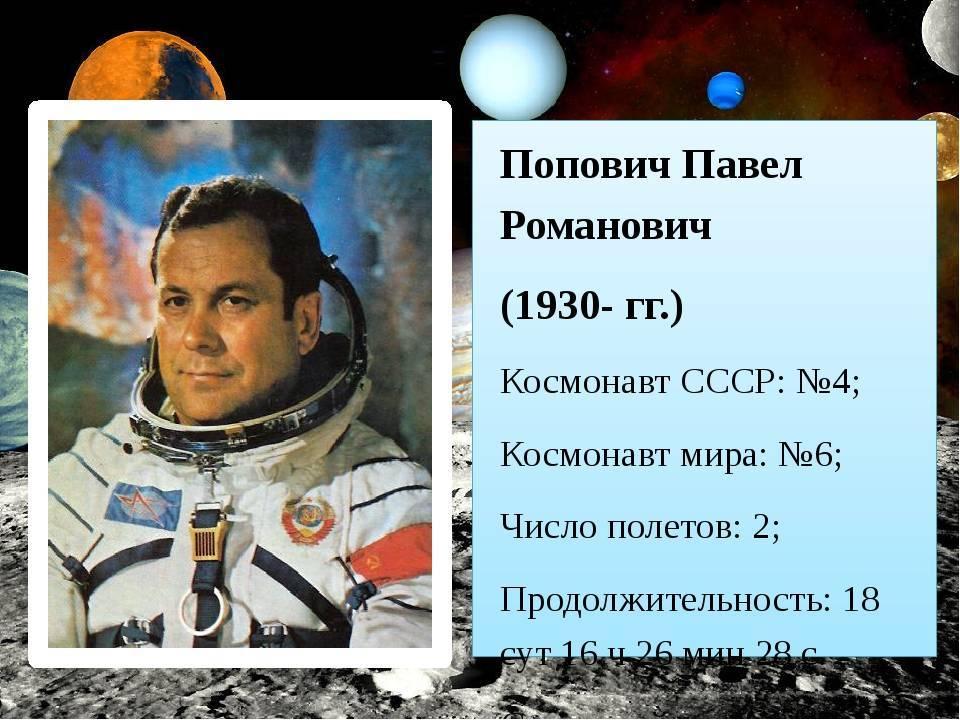 5 известных отечественных космонавтов