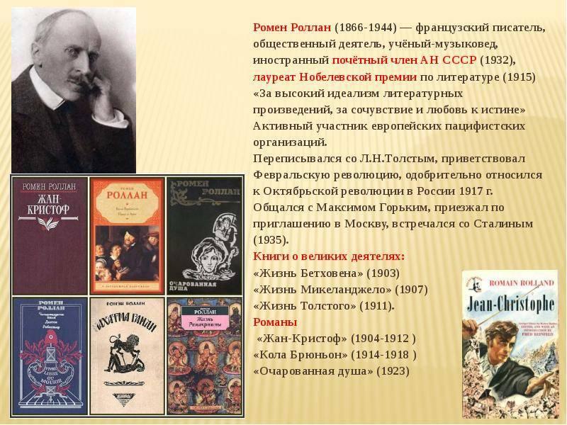 Писатель ромен роллан: жизнь и книги   мамины шпаргалочки