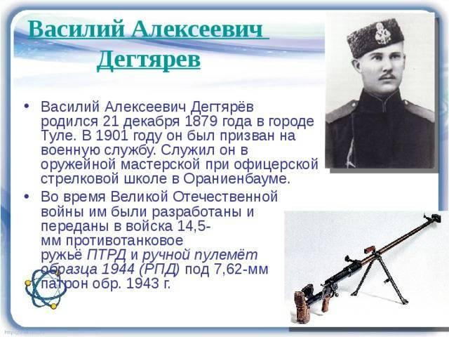 Василий алексеевич дегтярёв википедия