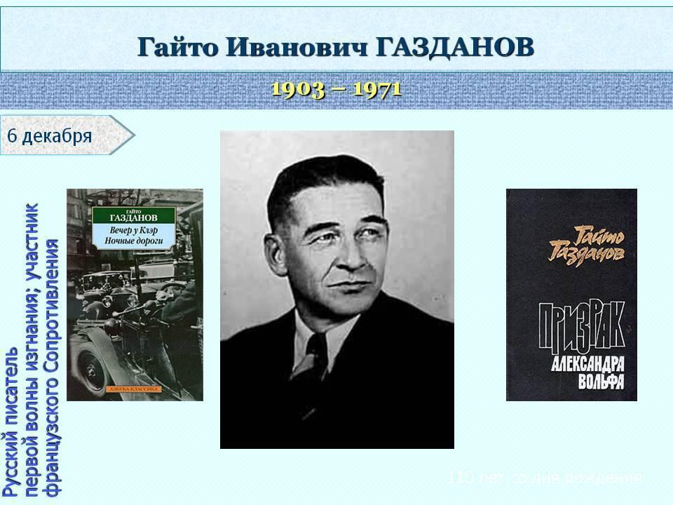Газданов георгий иванович википедия
