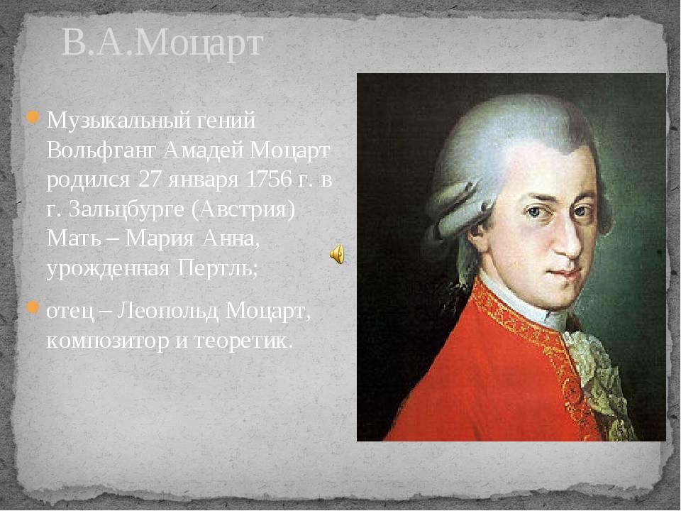 16 интересных фактов о моцарте