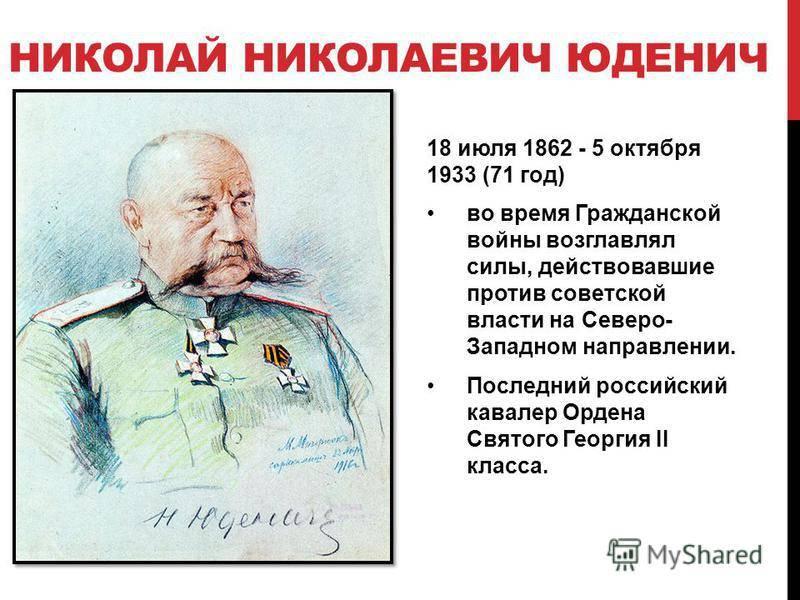 Юденич, николай николаевич википедия