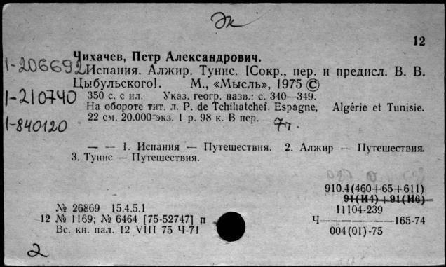 Чихачёв, пётр александрович