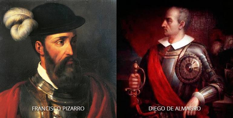 Путешествие франсиско писарро и диего де альмагро и их открытия