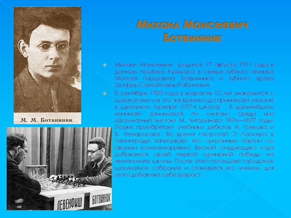 Михаил ботвинник   биография шахматиста, партии, фото, видео