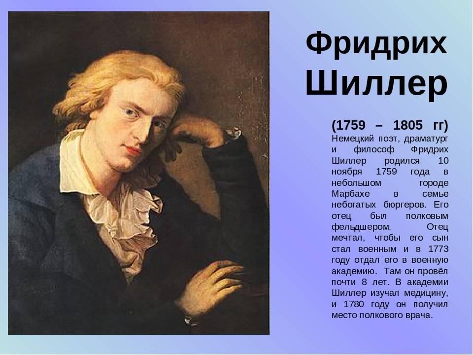 Фридрих шиллер: биография, творчество, идеи