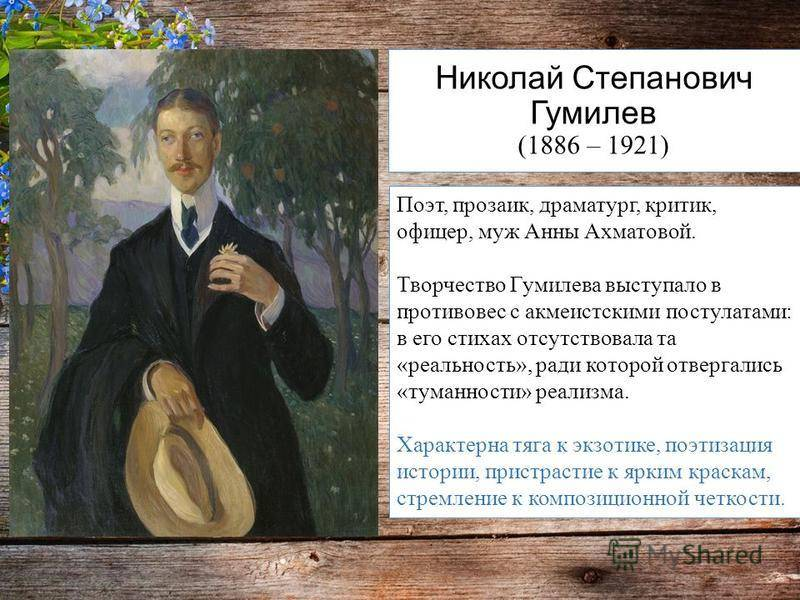 Краткая биография николая гумилева