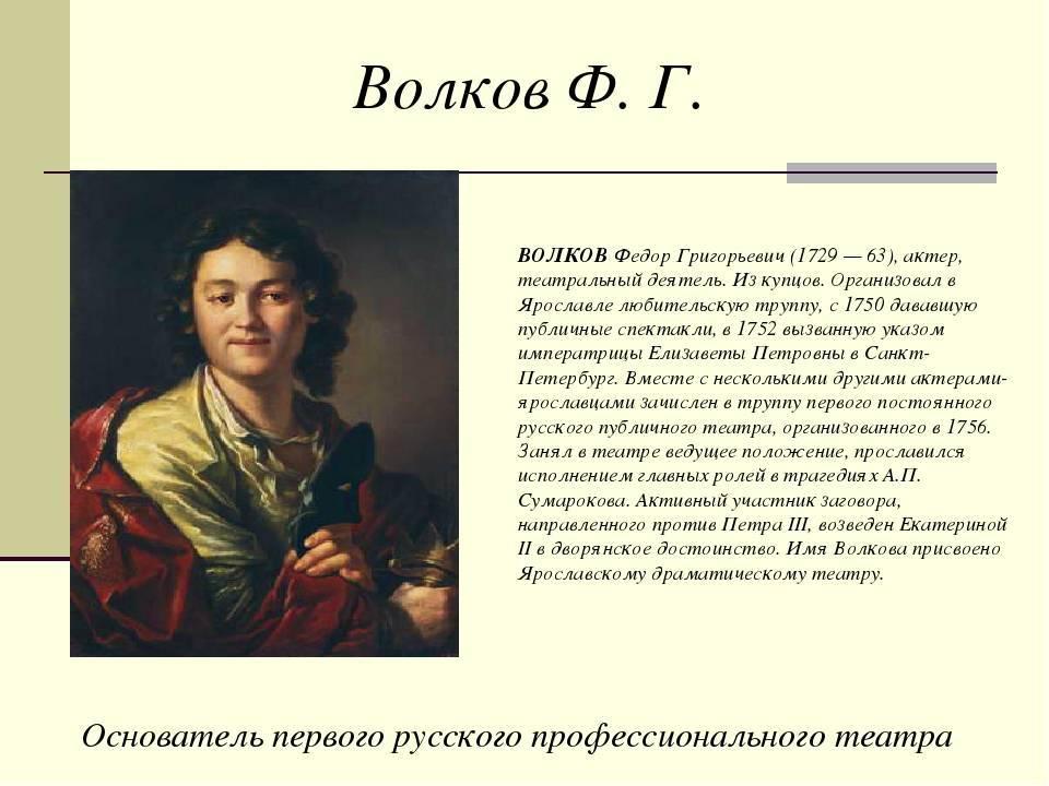 Фёдор григорьевич волков - вики