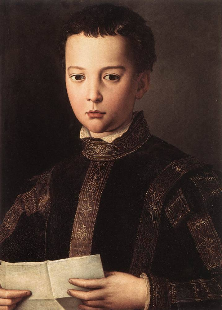 Портрет бии медичи, аньоло бронзино, 1542 - галерея