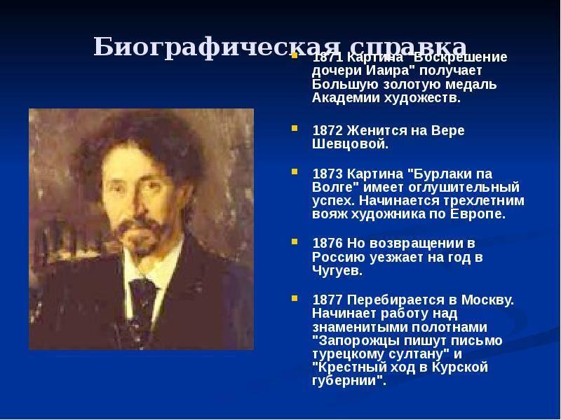 Репин илья ефимович - картины, биография, творчество художника