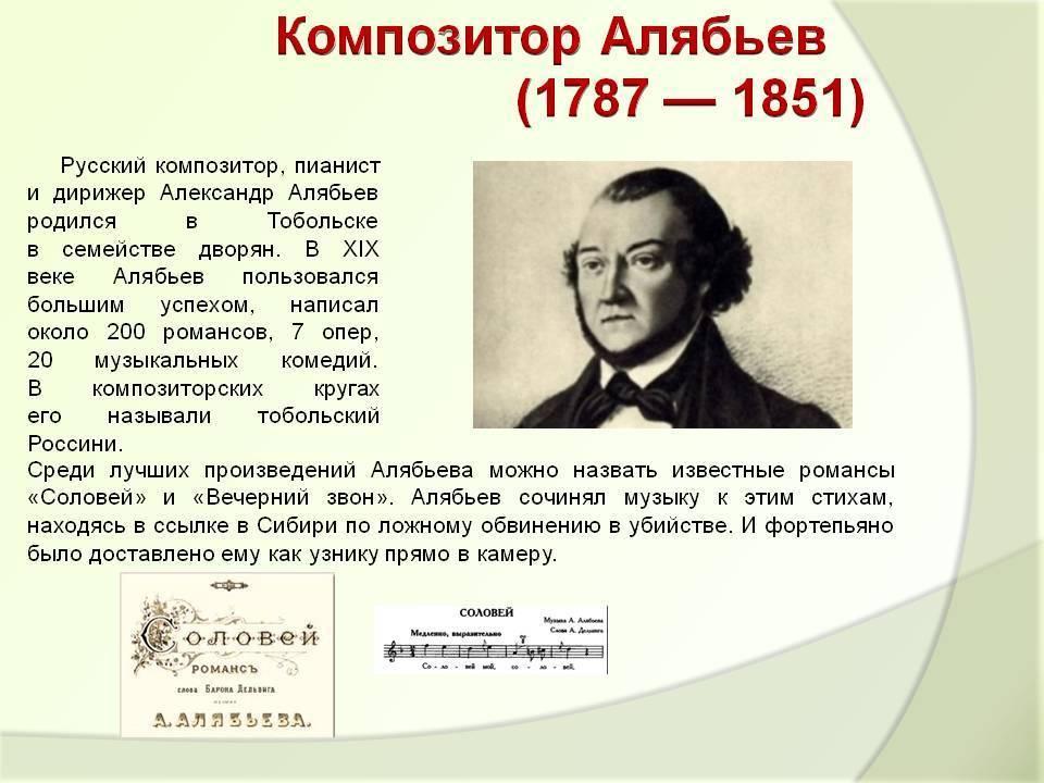 Александр александрович алябьев (alexander alyabyev) | belcanto.ru