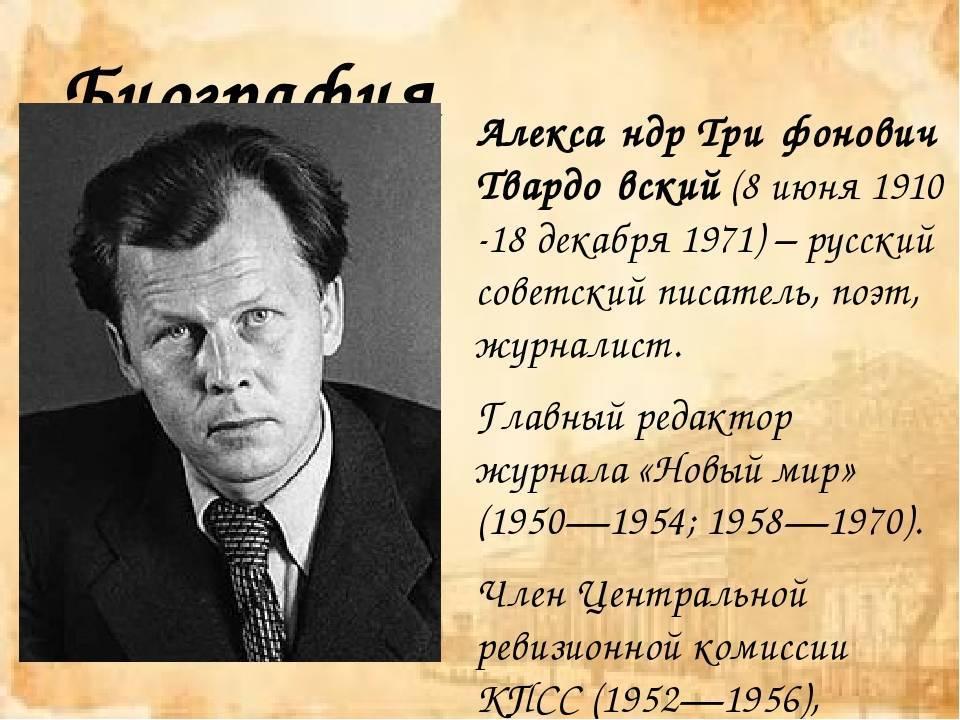 Александр твардовский: стихи