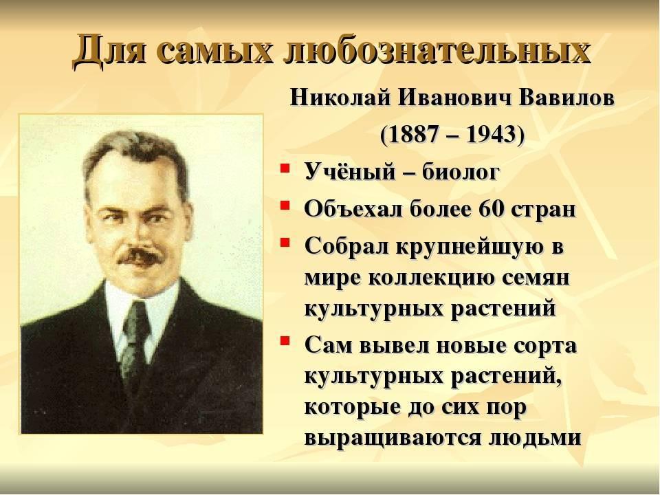 Николай иванович вавилов — интересные факты из жизни ученого   vivareit