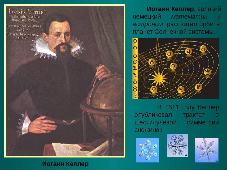 Кеплер иоганн: биография, труды, открытия