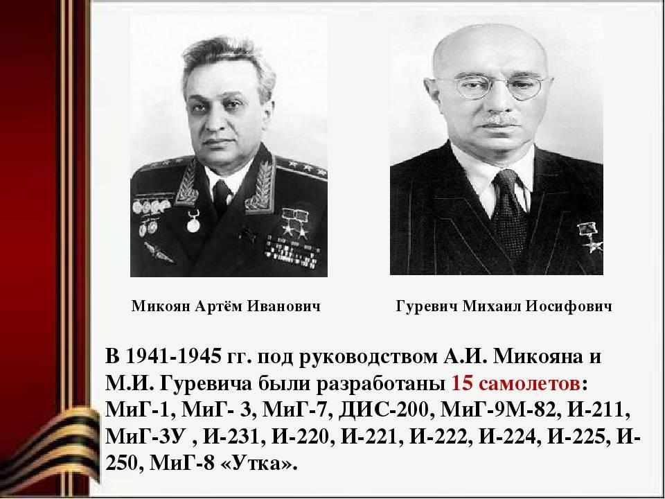 Микоян артём иванович - конструктор самолётов: великий авиаконструктор, создатель мигов, подробная биография