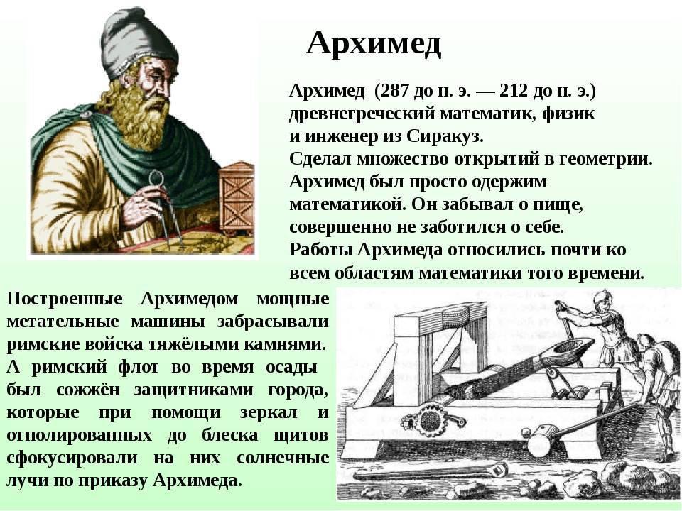 Интересные факты про архимеда