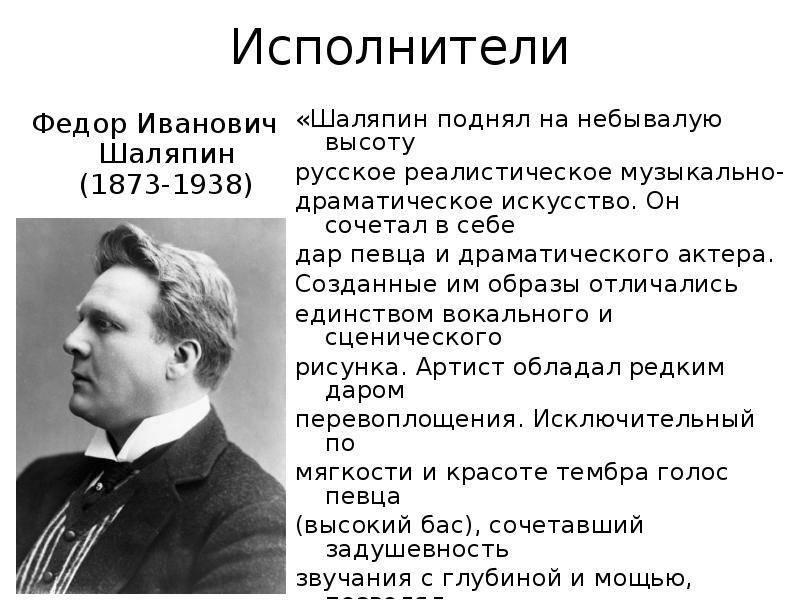 Биография фёдора шаляпина