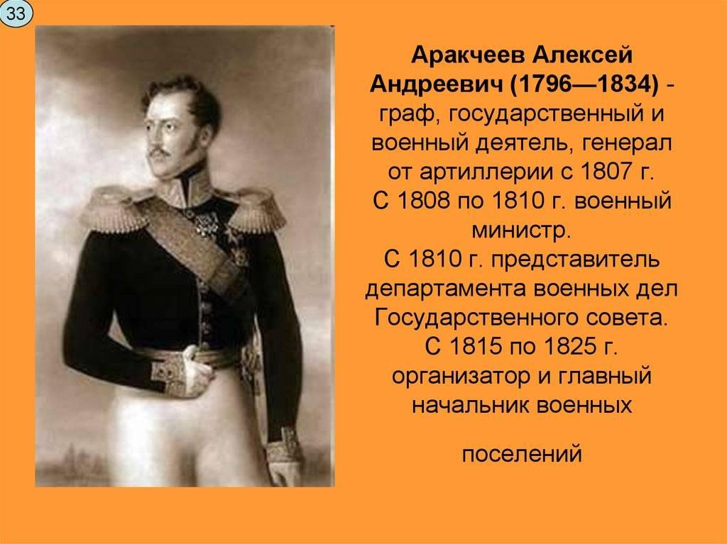Аракчеев: краткая биография, история и интересные факты из жизни
