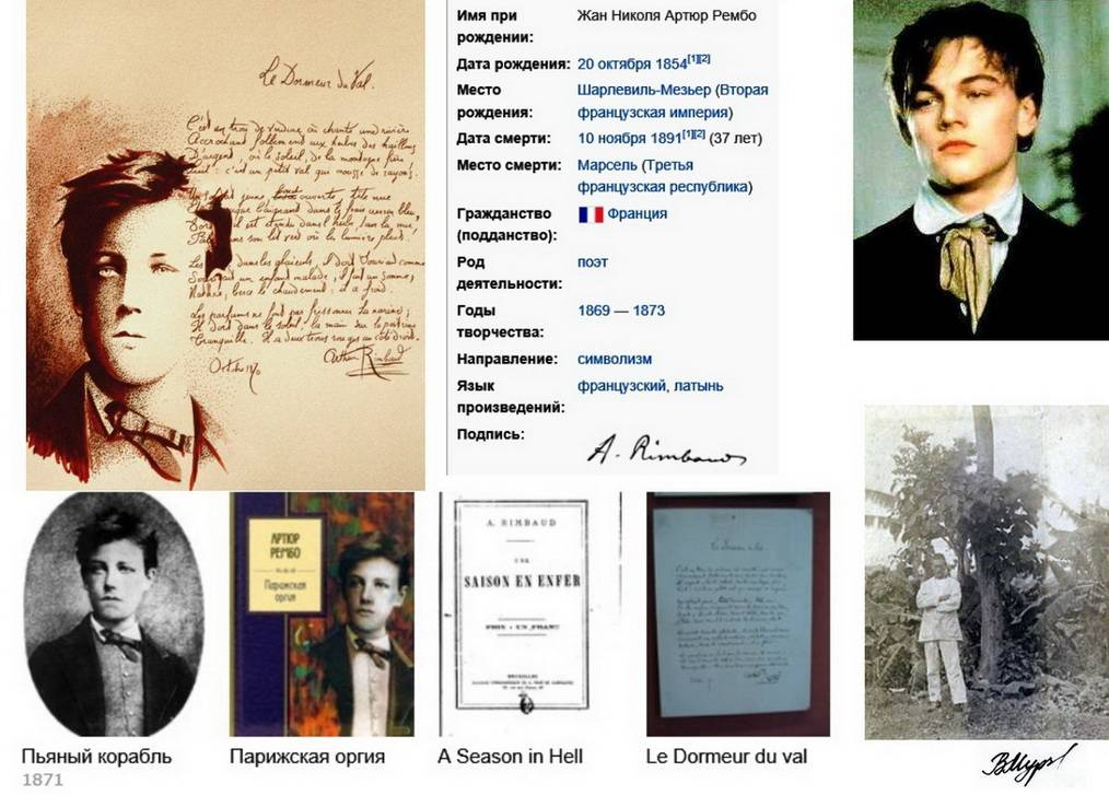 Влияние артюра рембо на русских поэтов-модернистов — saratov fio wiki