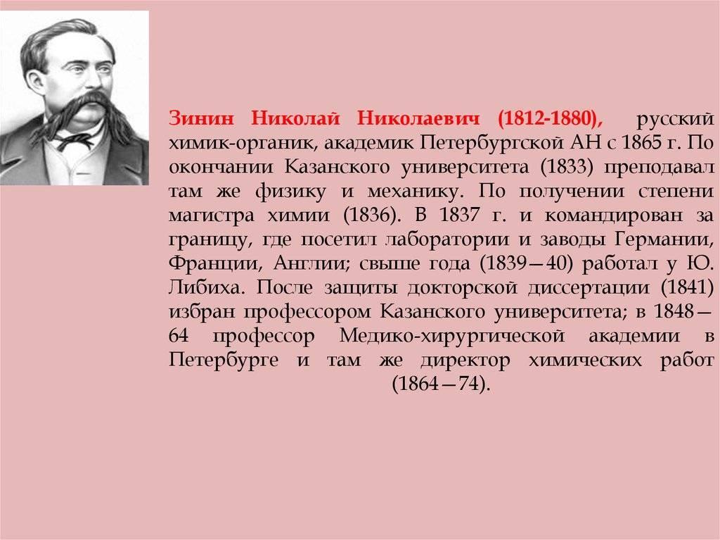 Николай зинин