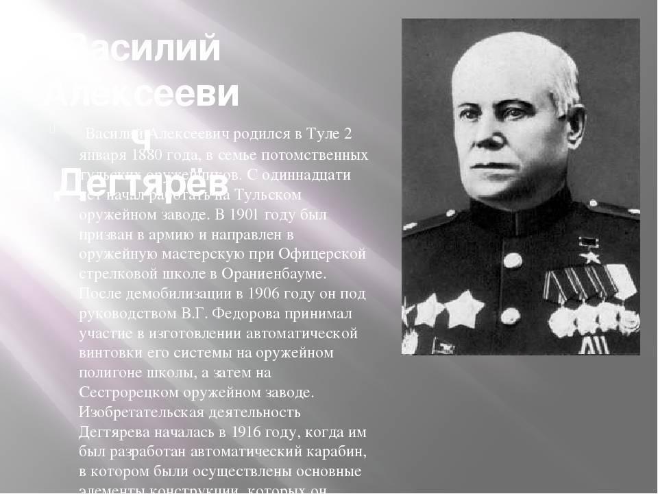 Василий дегтярёв. пулемётных дел мастер