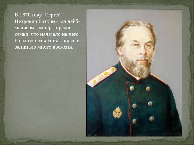Боткин, сергей петрович