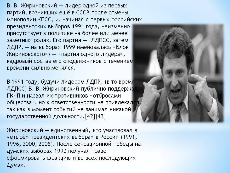 Владимир вольфович жириновский — циклопедия