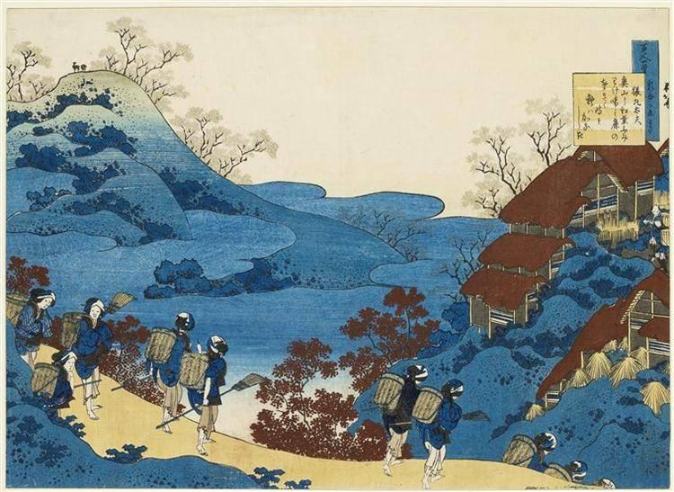 Японская живопись кацусика хокусая