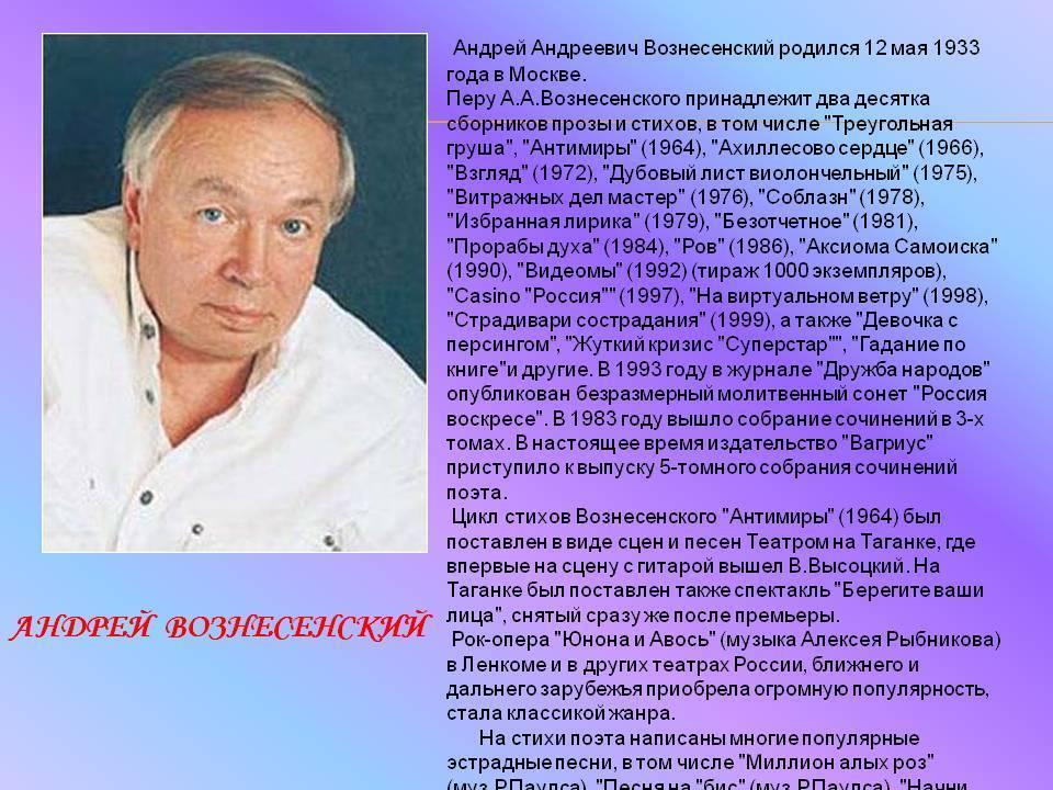 Андрей вознесенский - oфициальный сайт