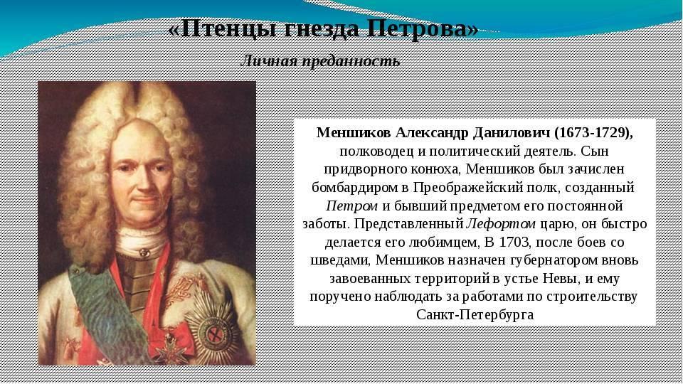 Биография  александра даниловича меньшикова - microarticles