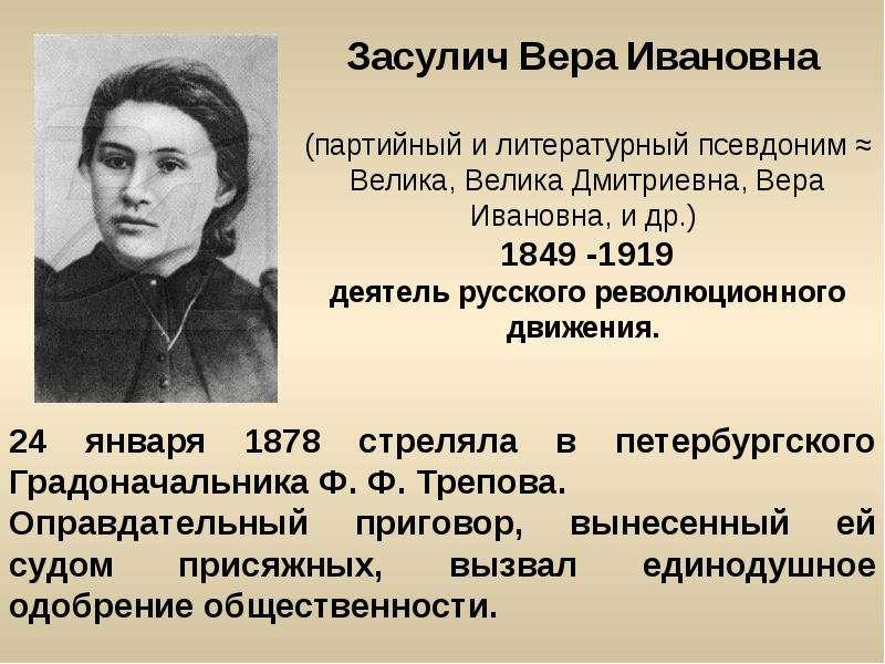Засулич Вера Ивановна