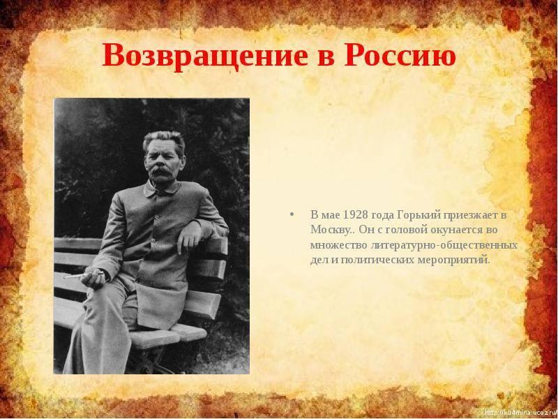 Биографиямаксима горького