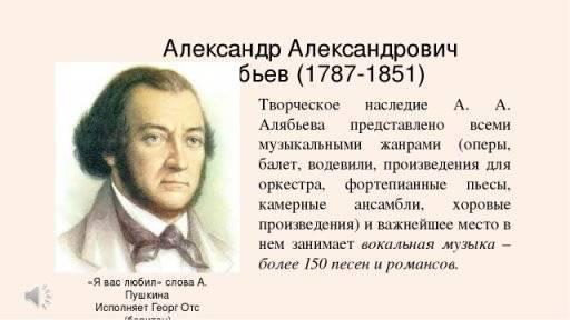 Биография Александра Алябьева