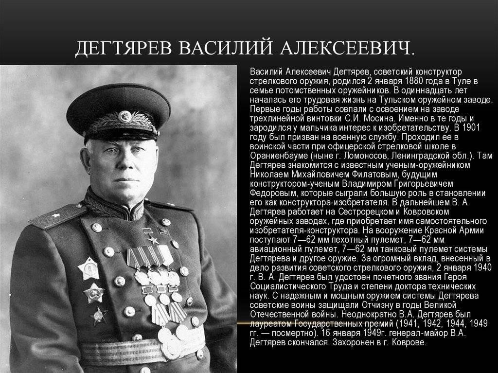 Дегтярёв, василий алексеевич - вики