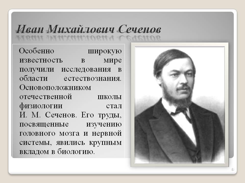 Иван михайлович сеченов: биография и главные труды