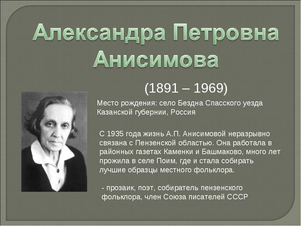 Биография Александра Анисимова