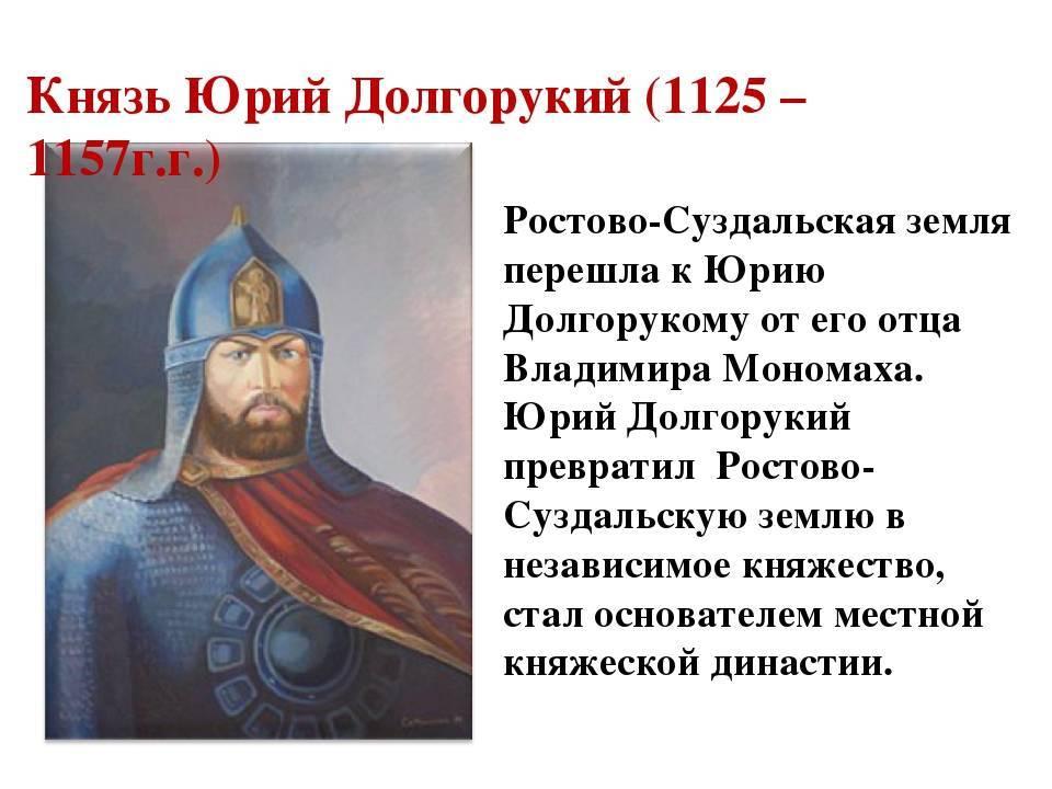 Князь юрий долгорукий. юрий долгорукий - биография