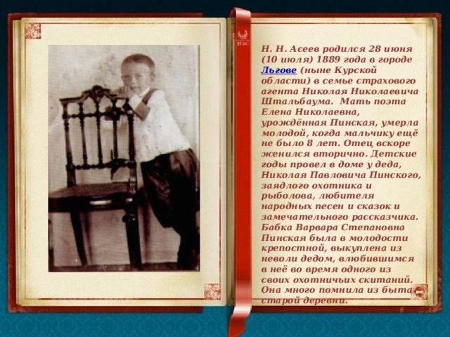 Асеев, николай николаевич — википедия