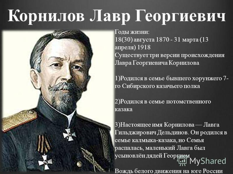 Биография Лавра Корнилова