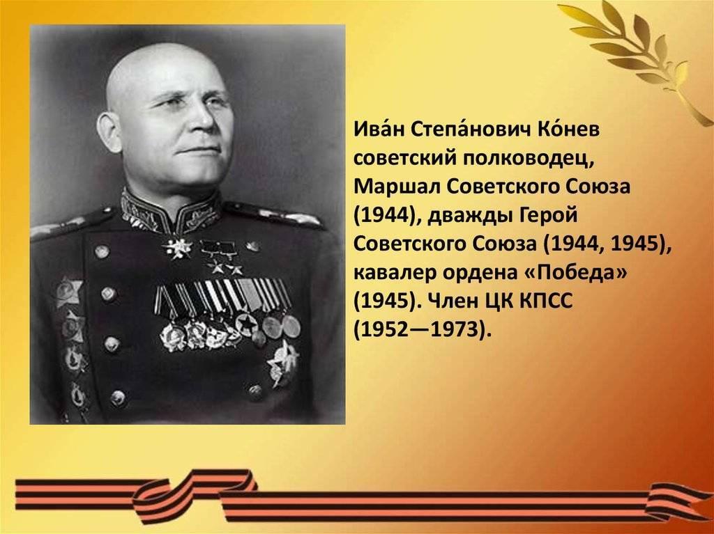 Иван конев - биография, факты, фото