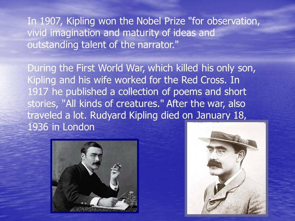 Джозеф редьярд киплинг — краткая биография | краткие биографии