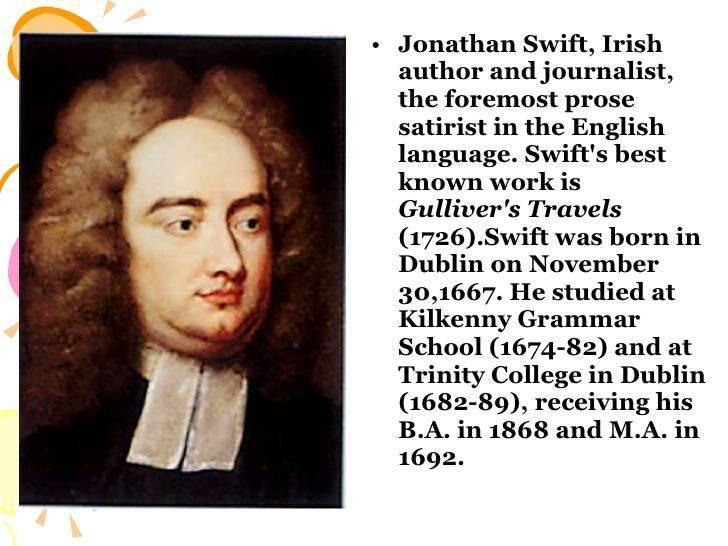 Джонатан свифт: краткая биография писателя и священника
