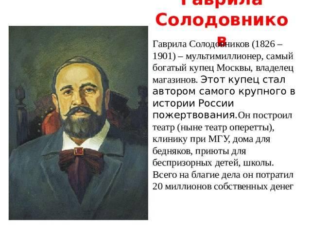 Солодовников, гаврила гаврилович - вики