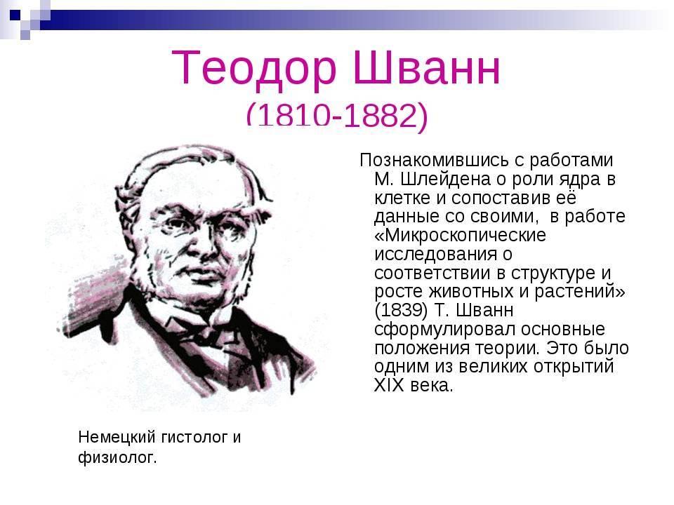 Теодор шванн — фото, биография, личная жизнь, причина смерти, научные достижения - 24сми