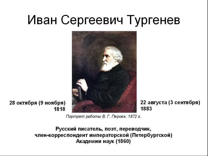 Биография ивана тургенева