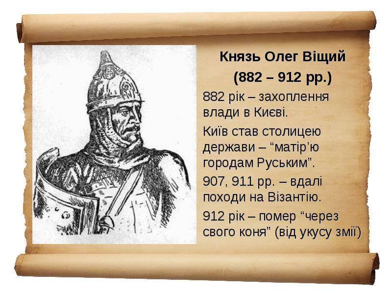 Кем был вещий князь олег годы жизни и история правления