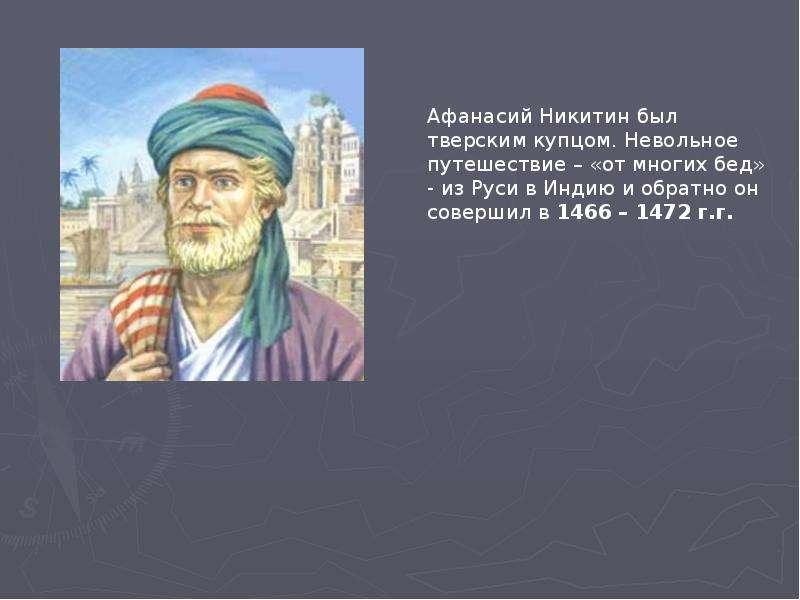 Афанасий никитин — краткая биография | краткие биографии