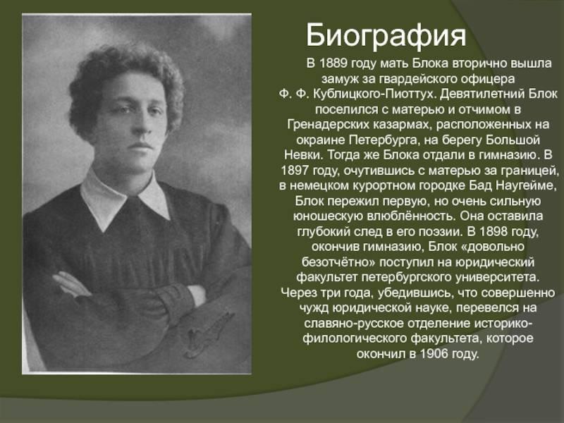 Биография Александра Блока