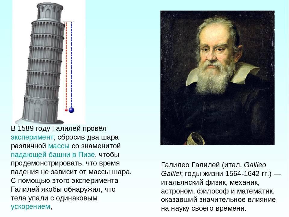 Галилео галилей – биография жизни и его открытий