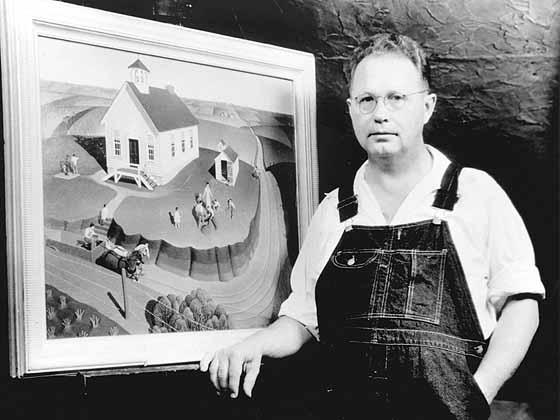 Грант вуд - 117 картин   американский регионализм, риджионализм   artsviewer.com